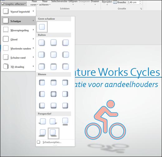 Effecten, zoals slagschaduw, toevoegen aan uw SVG-graphics met het hulpmiddel Graphic-effecten