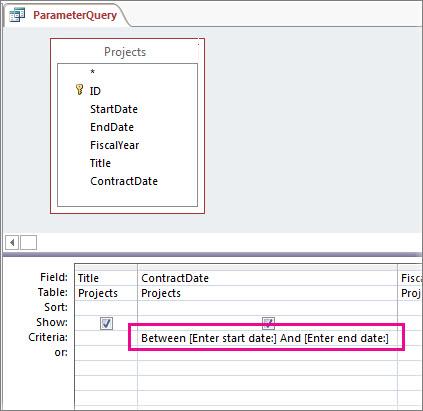 Parameterquery met twee parameters.