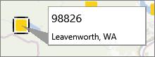 Postcodeaantekening op een PowerMap