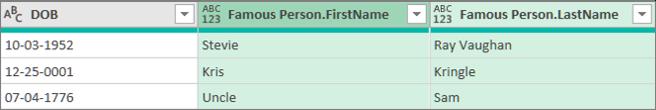 Resultaten van het uitbreiden van een gestructureerde kolom Record