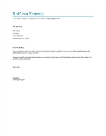 opdracht klachtenbrief schrijven Een brief schrijven in Word Online   Word