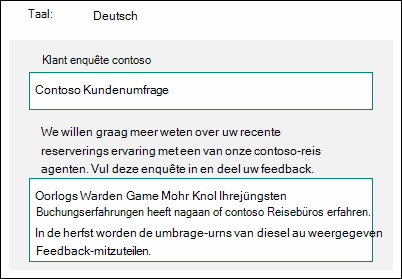 Inhoud vertalen in een andere taal in Microsoft Forms
