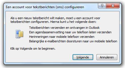 Account voor tekstberichten configureren
