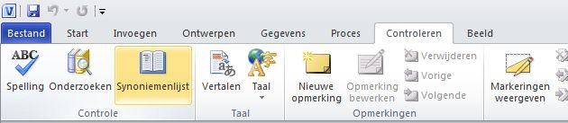 Menu Object in de groep Tekst