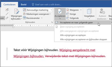 Wijzigingen bijhouden in Word in Office 365