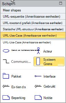 Systeemgrens selecteren