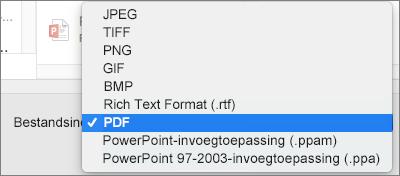 PDF exporteren in PowerPoint 2016 voor Mac