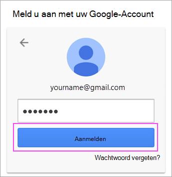 Google-wachtwoord invoeren