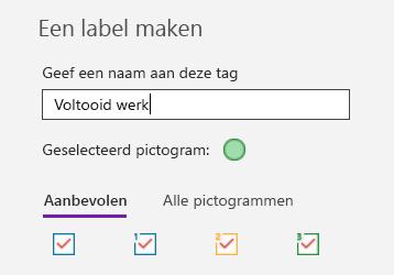 Aangepaste tags maken in OneNote voor Windows 10