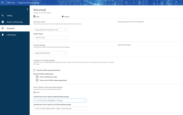 Portal gebruikersinstellingen
