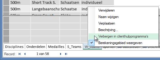 Tabellen verbergen van clienthulpprogramma's van Excel