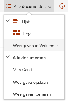 SharePoint Online-weergaven in Internet Explorer 11