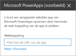 Eigenschappenvenster van Power Apps