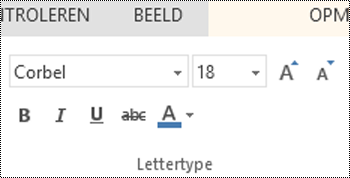 Lettertypegroep in PowerPoint Online