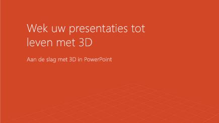 Schermafbeelding van een 3D-voorbladsjabloon van PowerPoint