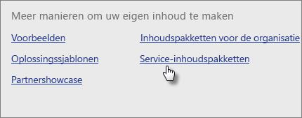 Kies Get (Ophalen) onder  Content Pack Library (Bibliotheek voor inhoudspakketten) in Services.
