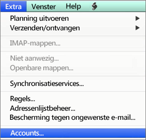 Hulpprogramma's voor Outlook voor Mac > Accounts