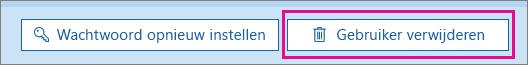 Een gebruiker verwijderen in Office 365.