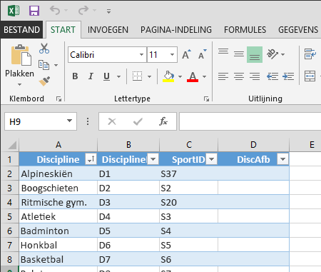 Een tabel uitbreiden in Excel