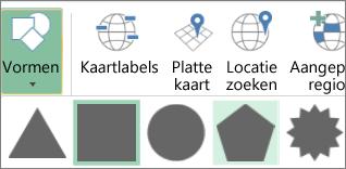 Optie Shapes van 3D-kaarten