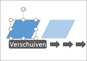 Een shape met één pixel tegelijk verplaatsen