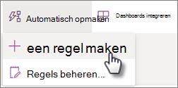 Schermafbeelding van het maken van een regel in het menu Automatiseren van een lijst