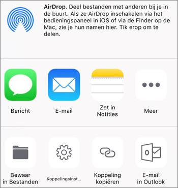 Schermafbeelding van de knop Foto opslaan in de OneDrive-app op iOS