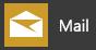 De app Mail voor Windows10 zoals deze eruitziet in het startmenu van Windows