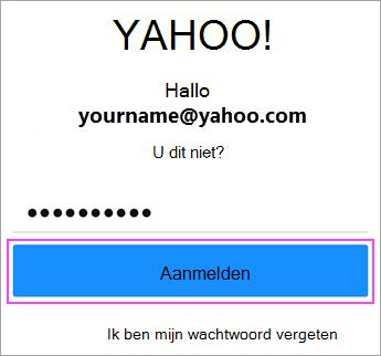 Voer Yahoo-wachtwoord