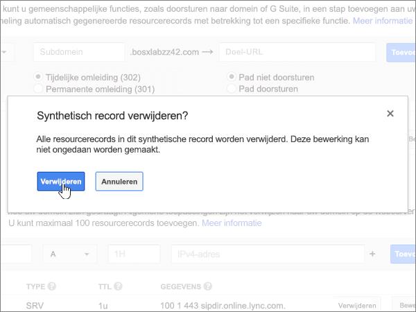 Office 365 selecteren op het scherm Locatie toevoegen
