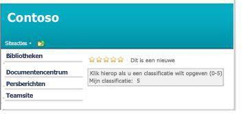 Classificaties op een SharePoint-pagina