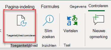 Schermafbeelding van de gebruikersinterface voor het openen van Toegankelijkheidscontrole