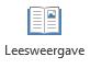 De leesweergave is geschikt voor het lezen van een PowerPoint-presentatie in volledig scherm wanneer er geen presentator is.