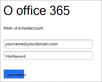 O365-wachtwoord invoeren