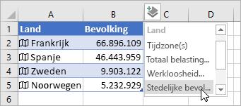 Tweede kolom met toegevoegde gegevens