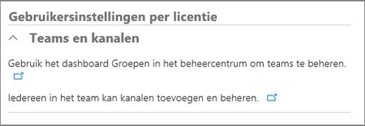 Gebruikersinstellingen per licentie
