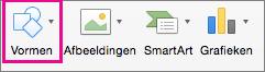 Vormen in PowerPoint voor Mac