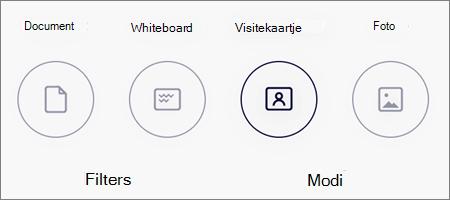 Modus opties voor het scannen van afbeeldingen in OneDrive voor iOS