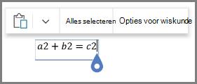 Met wiskundige opties voor vergelijkingen