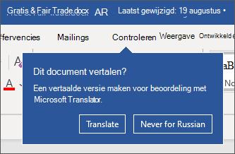 Een prompt om het document voor u te vertalen.