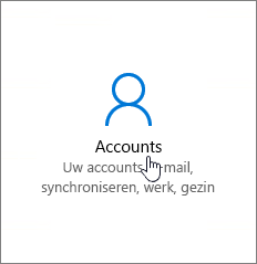 Ga in Windows-instellingen naar Accounts