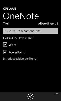 Foto's verzenden naar Word en PowerPoint in OneDrive