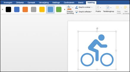 De Galerie stijlen met een lichtblauwe stijl die is toegepast op een afbeelding van een fiets