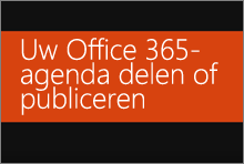 Uw Office 365-agenda delen of publiceren
