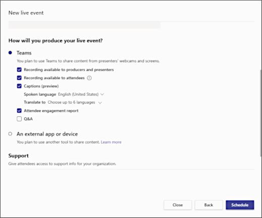 Nieuw, live evenement-hoe maakt u een scherm