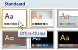 Op Office-thema klikken
