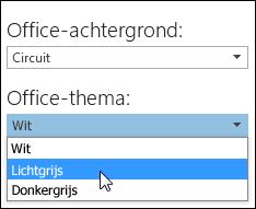 Een ander Office-thema kiezen