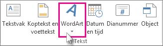 Klik om WordArt toe te voegen