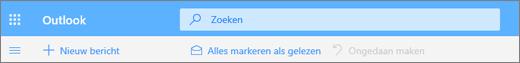 Schermafbeelding van het vak Zoekquery in Outlook.com.