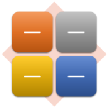De eenvoudige Matrix SmartArt-afbeelding